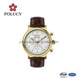 La montre des hommes classiques de montre de chronographe faite sur commande