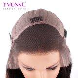 Colore naturale dei capelli umani di densità di Yvonne 180% del merletto della parte anteriore delle parrucche dei capelli brasiliani diritti naturali del Virgin