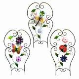 Großhandelsmetallzaun-Fertigkeit mit Tuch-Blumen-Garten-Dekoration