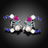 De imitatie Juwelen van de Parel van de Oorringen van de Vrouwen van de Parel van de Vorm van de Vlinder van de Boor van de Oorringen van de Vrouwen van de Parel Tsjechische