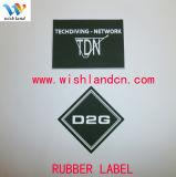 Étiquette de vêtement de PVC personnalisée par qualité