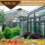 二重ガラスをはめ、アルミ合金の構造が付いている温室