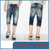 Shorts das calças de brim do rasgo dos homens da sarja de Nimes (JC3063)