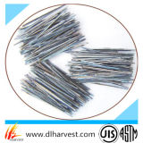 Fibra resistente de alta temperatura do aço do extrato do derretimento