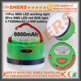 De Batterij van het waterdichte Navulbare 5W LEIDENE Lithium van het Werk Light S.O.S. Light 3.7V8800mAh