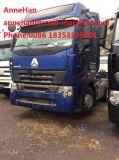 Euro elevado do táxi do telhado de Sinotruk A7-G 2 caminhões principais do trator para Semi reboques