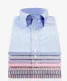 Il cotone del poliestere tinto filato barra il tessuto uniforme della camicia dell'indumento
