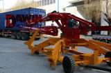 auge de colocación concreto hidráulico móvil del acoplado del 17m con 4 ruedas