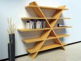 Bibliothèque en bois avec le modèle séparé