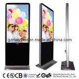 Положение LCD 55 дюйма стойки цифров самостоятельно свободно рекламируя индикацию