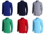 Het in het groot Overhemd van het Polo van de Koker van de Kleur van de Mensen van de Douane Lege Zuivere Lange