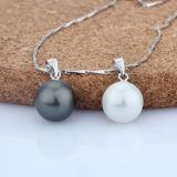 女性925の純銀製の方法シェルの真珠のペンダントのネックレス