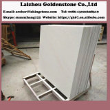 台所平板の装飾のための安く白いカラー雪の白い大理石の石