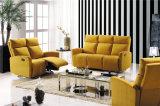 Sofa de cuir véritable de salle de séjour (780c)