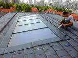 Coletor solar do ecrã plano da energia renovável