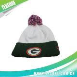 Выдвиженческие Cuffed акриловые связанные Beanies шлема зимы с шариком (098)