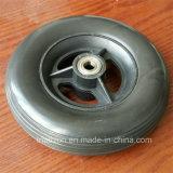 da espuma contínua do plutônio da borracha de 7X1 7X1.5 7X2 roda livre lisa do pneumático do pneu com a borda da liga plástica ou de alumínio