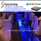 Bunte Zeit Tunnel 3D Mirror Glass LED Dance Floor