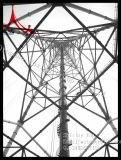Linha de transmissão de alta tensão aço da estrutura e torre tubular da potência