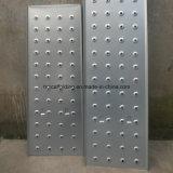 Tablón del andamio/prolongación del andén de acero galvanizada de la tarjeta de la caminata/andamio galvanizado del metal