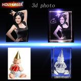 Гравировальный станок лазера цены по прейскуранту завода-изготовителя 3D Holylaser стеклянный для кристаллический подарков