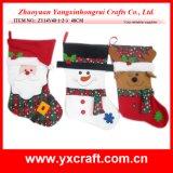 Weihnachtsmann, Schneemann, Ren-hängender Weihnachtsdekoration-Strumpf