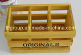 Rectángulo de almacenaje de desplazamiento hecho a mano de madera sólida de la cubierta de la Caliente-Venta
