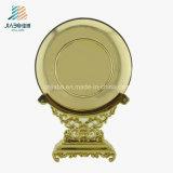 صنع وفقا لطلب الزّبون بالجملة معدن نوع ذهب صبّ جيش مينا يحتفل صينيّة
