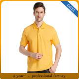 デザイン大人の綿の悪感情の黄色のポロシャツ