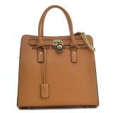 Nuovo sacchetto delle donne della cartella della borsa della cartella del cuoio del lucchetto del progettista