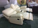 Sofá suave del Recliner del cuero de la sensación de la alta calidad, sofá rocoso (Y988)