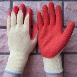 10 Handschoen van het Werk van de Veiligheid van de Handschoenen van de maat de Latex Met een laag bedekte