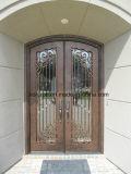 Portelli di entrata Mano-Forgiati artistici della parte anteriore del ferro della parte superiore rotonda