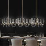 Lampadario a bracci a cristallo dorato di lusso del ferro di arte europea moderna G4 LED del metallo per il salone