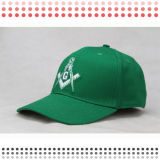 Шлем Snapback зеленого Brim вышивки плоского плоский