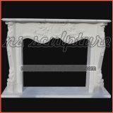 Mensola del camino francese di marmo bianca del camino/bordi Mf1709