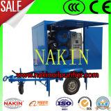 Tipo móvel sistema de filtração da purificação de petróleo do transformador, petróleo que recicl a máquina