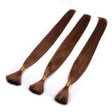 Las extensiones humanas peruanas del pelo del bulto del pelo del tejido ninguna trama para el tejido 3 no lían ninguna trama ningún pelo a granel recto de la conexión