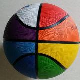 Basquetebol da borracha do OEM de oito cores