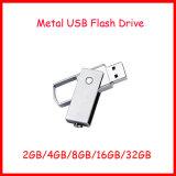 Memoria Flash del palillo del USB de Thumbdrive del mecanismo impulsor del flash del USB del metal del eslabón giratorio