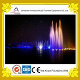 Grande fontana di acqua di galleggiamento dinamica di musica del fiume
