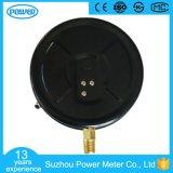 200mmの工場価格の黒の鋼鉄ケースの真鍮の接続の圧力計