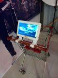 Lcd-Supermarkt-Einkaufswagen, der Maschinen-DigitalSignage bekanntmacht