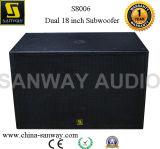 S8006 Active Subwoofer Speaker 2 de PA Bass Loudspeaker van X 18inch
