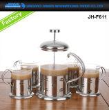 Hitte-bewijs Franse Pers van de Pot van het Koffiezetapparaat van het Glas de Vastgestelde