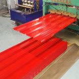 (0.125-0.5mm) Feuille en acier ondulée de toiture du matériau de construction Dx51d PPGI PPGL