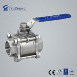NPT를 가진 스테인리스 Steel 3PC Ball Valve, Bsp, BSPT