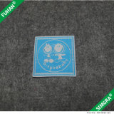 Etiqueta tecida roupa da criança do logotipo do corte do calor dos acessórios do vestuário