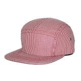 Kundenspezifischer unbelegter normaler Panel-Hut des Streifen-5 für Kinder