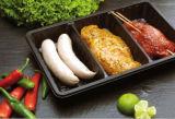 6yr China Alibaba Goldlieferant Intermarket Qualitätsstandardmit/ohne saugfähiges Auflage-Sicherheits-Nahrungsmittelgrad-Plastiktellersegment für Fleisch